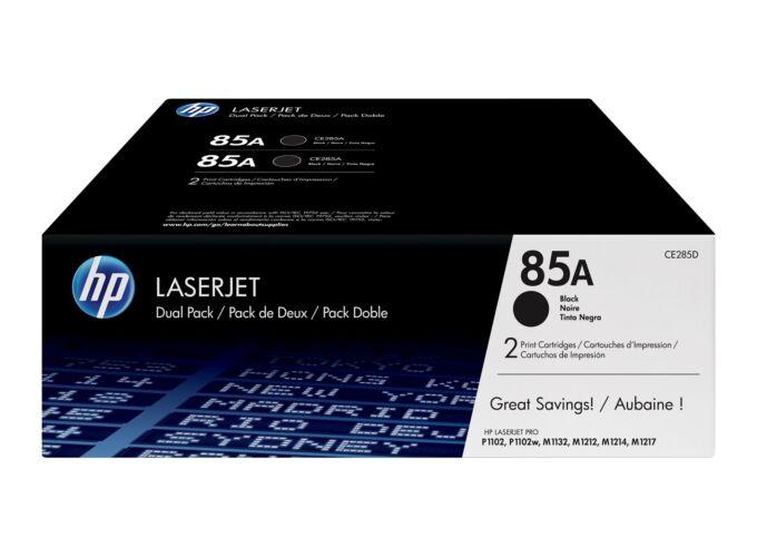 HP 85A CE285AD fekete toner - eredeti 2db-os csomag 48377