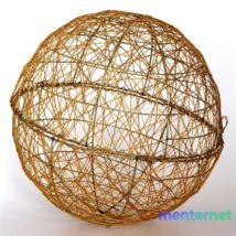 Gömb alakú 40cm/arany színű festett fém dekoráció