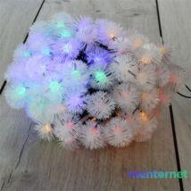 Zúzmara alakú 3cm/12m/IPX3 szabványos/több színű/100db LED-es/napelemes fénydekoráció