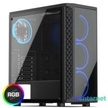 SilentiumPC Signum SG1X TG RGB Fekete (Táp nélküli) ablakos ATX ház
