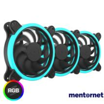 SilentiumPC 120mm Sigma HP 120 Corona RGB 3-pack ház hűtőventilátor
