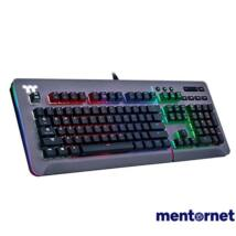 Ttesports Level 20 RGB Titanium (Cherry MX speed silver) US USB mechanikus gamer billentyűzet