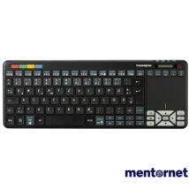 Thomson ROC3506 4 az 1-ben fekete multimédiás vezeték nélküli érintőpados LG Smart TV billentyűzet
