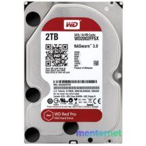 "Western Digital 3,5"" 2000GB belső SATAIII 7200RPM 64MB RED PRO WD2002FFSX winchester 5 év"