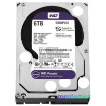 """Western Digital 3,5"""" 6000GB belső SATAIII 5400RPM 64MB PURPLE WD60PURZ winchester 3 év"""