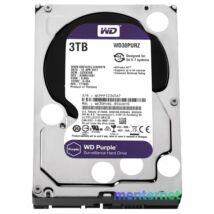 """Western Digital 3,5"""" 3000GB belső SATAIII 5400RPM 64MB PURPLE WD30PURZ winchester 3 év"""