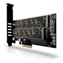 PCEM2-D PCI-E - M.2 SSD NVME+NGFF adapter - 2 db M.2 SSD-t tehet asztali PC-be!