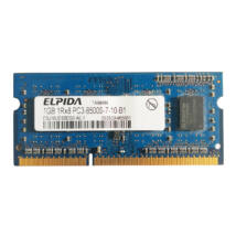 1GB, DDR3, 1066MHz notebook memória (PC3-8500S-7-10-B1, EBJ10UE8BDS0-AE-F)