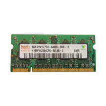 1GB, DDR2, 800MHz notebook memória (PC2-6400S-666, HYMP112S64CP6-S6)