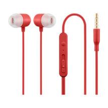 HE21R piros mikrofonos fülhallgató headset