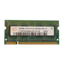 256MB, DDR2, 533MHz notebook memória (PC2-4200S-444-12, HYMP532S64P6-C4-AB)