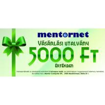 MentorNet vásárlási utalvány 5.000 Ft értékben