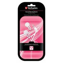 SecureClip Earphones fehér/rózsaszín vezetékes fülhallgató