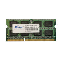 2GB, DDR3, 1333MHz notebook memória (PC3-10600, SSZ3128M8-EDJ1D)