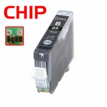 CLI-8Bk utángyártott chipes festékpatron 17ml! PQ iP3300 iP4200 iP4300 iP4500 iP5200 iP5200R iP5300