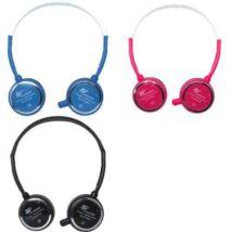 GS-HS106MW fehér mikrofonos vezetékes headset - fejhallgató