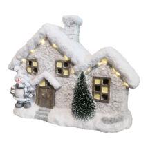 HOME KDC 33 karácsonyi dekoráció - havas házikó LED világítással