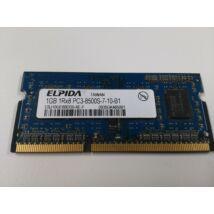 1Gb DDR3 1066MHz PC3-8500 - notebook memória