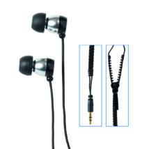 """EP 7  """"ZIP"""" fekete vezetékes fülhallgató"""