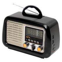 RRT 2B hordozható retro táskarádió és multimédia lejátszó