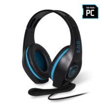 Pro-H5 kék gamer mikrofonos vezetékes headset - fejhallgató