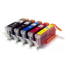 PGI-550XL-CLI-551XL CMYBk set 5db-os utángyártott multipack csomag PQ IP7250/MG5450/MG5550/6350/5650