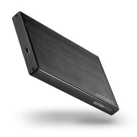 """EE25-XA3 USB 3.0, 2.5"""" S-ATA, fekete külső alumínium HDD/SSD tok"""
