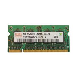 1GB, DDR2, 800MHz notebook memória (PC2-6400S-666, HYMP112S64CP6-S6)