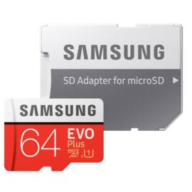 Evo PLUS 64GB micro SDXC Class 10 UHS + SD adapter (MB-MC64HA/EU)