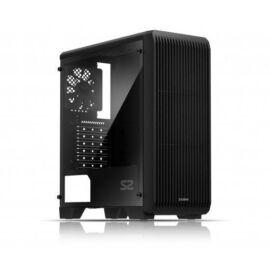 S2 Midi ATX fekete számítógép ház