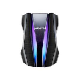 """ADATA AHD770G 2,5"""" 2TB USB3.2 RGB ütés és vízálló fekete külső winchester"""