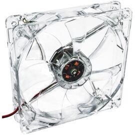 Akyga AW-12A-WH 120mm Molex 4 LED fehér ház hűtőventilátor