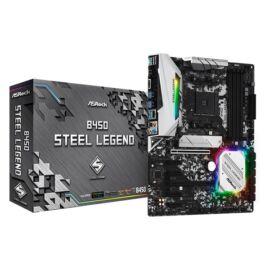 ASRock B450 STEEL LEGEND AMD B450 SocketAM4 ATX alaplap