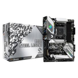 ASRock B550 STEEL LEGEND AMD B550 SocketAM4 ATX alaplap