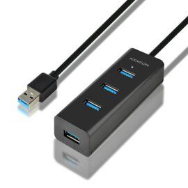 Axagon HUE-S2BL 4 portos USB3.0 gyorstöltő hosszú kábeles HUB