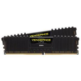 Corsair 16GB/3000MHz DDR-4 VENGEANCE LPX fekete (Kit 2db 8GB) (CMK16GX4M2D3000C16) memória