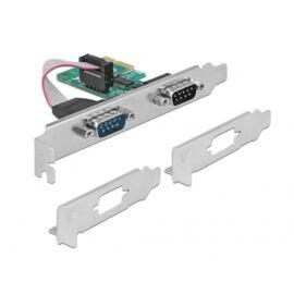 Delock 89918 2x Soros RS-232 PCI Express-kártya
