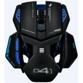 Dragon War Phantom 4.1 fekete-kék gamer egér