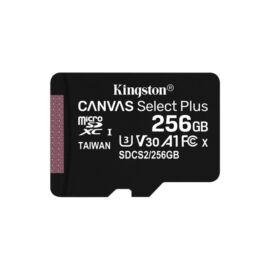 Kingston 256GB SD micro Canvas Select Plus (SDXC Class 10 A1) (SDCS2/256GBSP) memória kártya