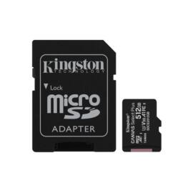 Kingston 512GB SD micro Canvas Select Plus (SDXC Class 10 A1) (SDCS2/512GB) memória kártya adapterrel