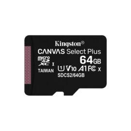 Kingston 64GB SD micro Canvas Select Plus (SDXC Class 10 A1) (SDCS2/64GBSP) memória kártya