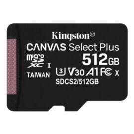Kingston 512GB SD micro Canvas Select Plus (SDXC Class 10 A1) (SDCS2/512GBSP) memória kártya