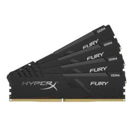 Kingston 128GB/2666MHz DDR-4 HyperX FURY fekete (Kit 4db 32GB) (HX426C16FB3K4/128) memória