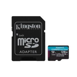 Kingston 128GB SD micro Canvas Go! Plus (SDXC Class 10 UHS-I U3) (SDCG3/128GB) memória kártya adapterrel