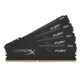 Kingston 64GB/2666MHz DDR-4 HyperX FURY fekete (Kit 4db 16GB) (HX426C16FB4K4/64) memória