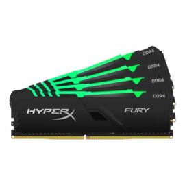Kingston 64GB/3466MHz DDR-4 HyperX FURY RGB (Kit 4db 16GB) (HX434C17FB4AK4/64) memória