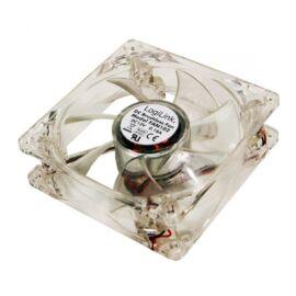LogiLink FAN102 Ventilátor 80x80x25mm akril 4 LEDdel