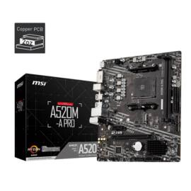 MSI A520M-A PRO AMD A520 SocketAM4 mATX alaplap