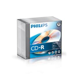 Philips CD-R80 52x Slim írható CD lemez