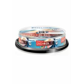 Philips DVD+R85DLCB Dual-Layer 8x cake box lemez 10db/csomag
